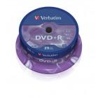 DVD+R 4.7Gb 16x 25 buc/cut, VERBATIM Matt Silver
