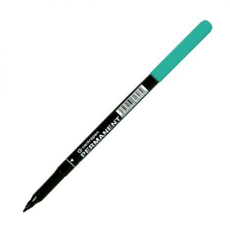 Marker permanent verde varf 1.0mm, CENTROPEN 2536