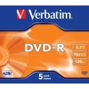 DVD-R 4.7Gb 16x jewelcase, VERBATIM Matt Silver