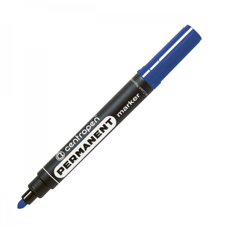 Marker permanent albastru varf rotund 2.5mm, CENTROPEN 8566