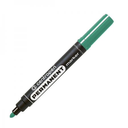 Marker permanent verde varf rotund 2.5mm, CENTROPEN 8566