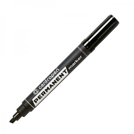 Marker permanent negru varf tesit, CENTROPEN 8576