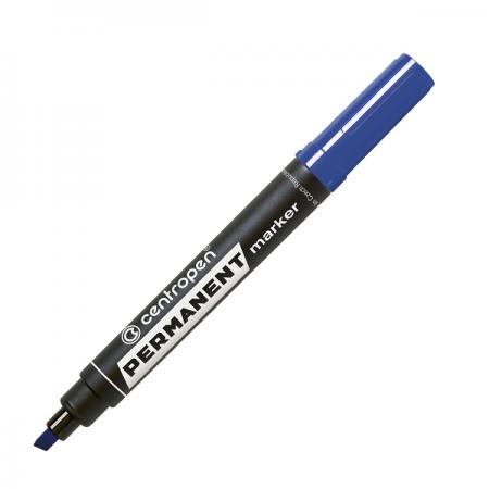 Marker permanent albastru varf tesit, CENTROPEN 8576