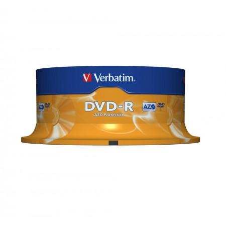 DVD-R 4.7Gb 16x 25 buc/cut, VERBATIM Matt Silver