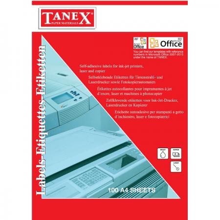 Etichete adezive 14/A4 99.1x38.1mm 100 coli/top, TANEX