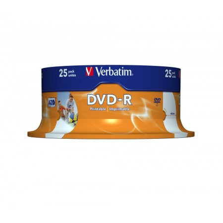 DVD-R 4.7Gb 16x 25 buc/cut, VERBATIM Wide Printable