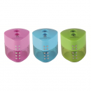 Ascutitoare plastic dubla cu container culori pastel, FABER-CASTELL Grip