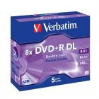DVD+R 8.5Gb 8x double layer jewelcase, VERBATIM Matt Silver
