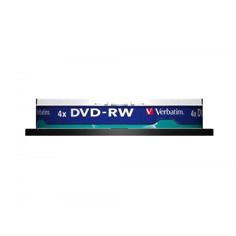 DVD-RW 4.7Gb 4x 10 buc/cut, VERBATIM Matt Silver