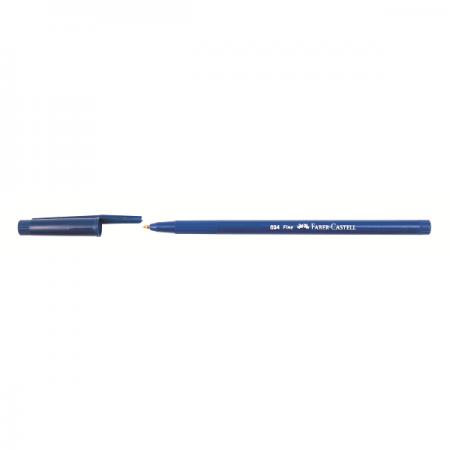Pix de unica folosinta 0.8mm albastru, FABER-CASTELL Trilux 034