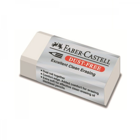 Radiera creion alba 41x18.5x11.5mm, FABER-CASTELL Dust Free