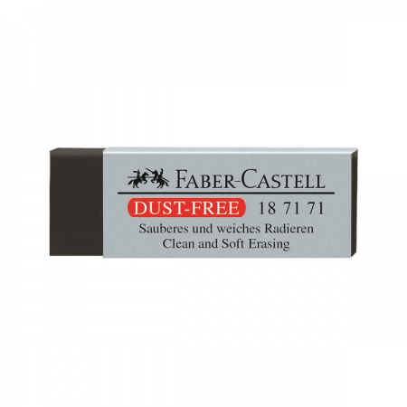 Radiera creion neagra, FABER-CASTELL Dust Free 24