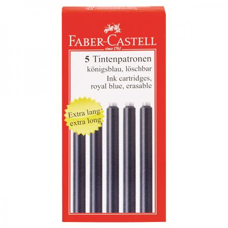 Rezerva cerneala mare albastra 5 buc/set, FABER-CASTELL