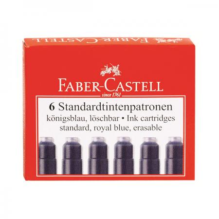 Rezerva cerneala mica albastra 6 buc/set, FABER-CASTELL