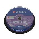 DVD+R 8.5Gb 8x double layer 10 buc/cut, VERBATIM Matt Silver