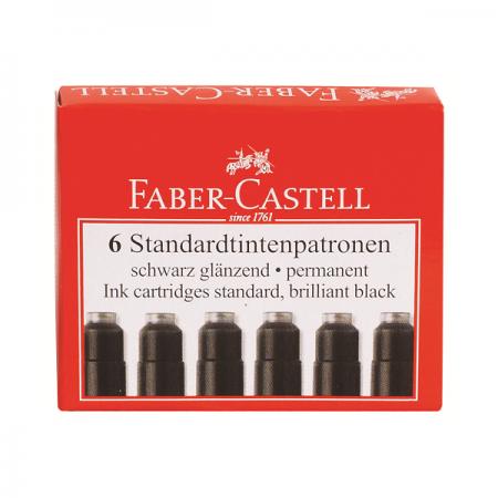 Rezerva cerneala mica neagra 6 buc/set, FABER-CASTELL