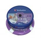 DVD+R 8.5Gb 8x double layer 25 buc/cut, VERBATIM Wide Printable
