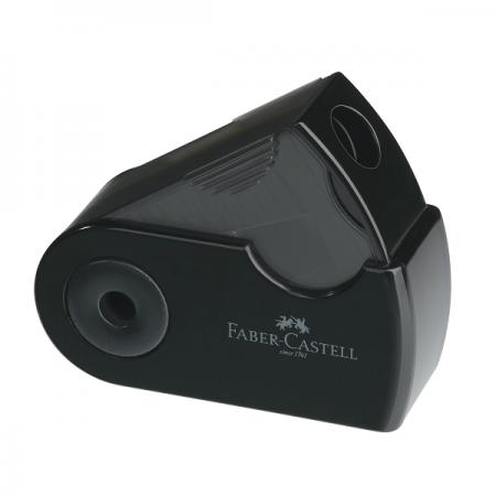 Ascutitoare plastic simpla neagra, FABER-CASTELL Sleeve-Mini