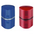 Ascutitoare tripla cu container rosie/albastra, FABER-CASTELL Grip 2001